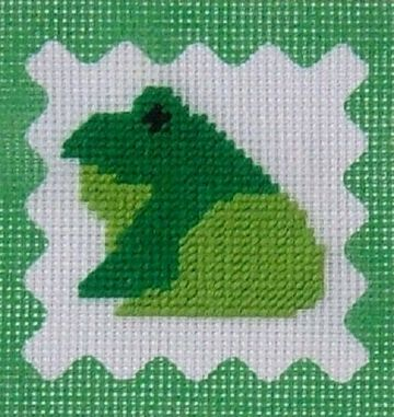 Frog Tapestry Kit by Daisy Designs from Derwent water Designs.